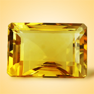 Yellow Citrine - 7.50 Carats - Emerald