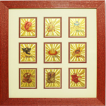 Ashtavinayaka in Wooden frame