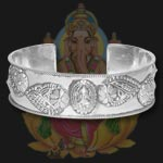 Ganesh Kada in pure silver - Design IV