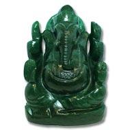 Green Jade Ganesha - 609 gms