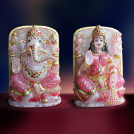 Ganesh Laxmi in Rose quartz