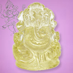 Ganesha in Lemon Topaz - 165 carat