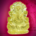 Ganesha in Lemon Topaz - 210 carat