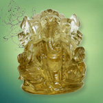 Ganesha in Lemon Topaz - 248 carat
