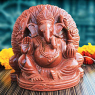 Vakratunda Ganesha in Sunstone
