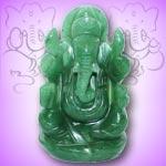 Ganesha in  Austrailian Green Jade - 174 gms