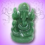 Ganesha in  Austrailian Green Jade - 208 gms