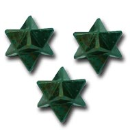 Star Pyramid in Blood Sunstone - Set of 3