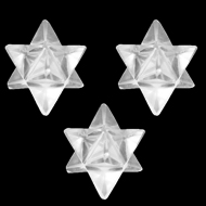 Star Pyramid in Crystal - Set of 3