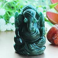 Ganesha Columbian Green Jade - 67 gms