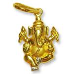 Ganesh Locket - in Pure Gold - Design IV