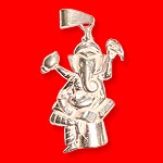 Ganesh Locket - in Pure Silver - Design III
