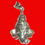 Ganesh Locket - in Pure Silver - Design XXVIII