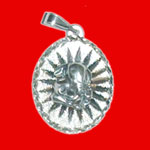 Ganesh Locket in Pure Silver - Design III