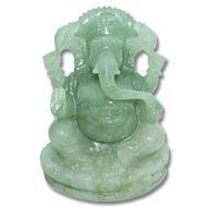 Ganesha in  Austrailian Green Jade - 695 gms