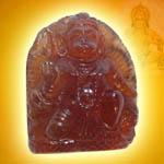 Hanuman in Gomed - 62.10  Carats