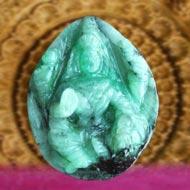 Mahalaxmi in Emerald - 28 carat