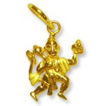 Hanuman locket in pure gold - Design I