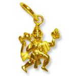Hanuman locket in pure gold - Design I