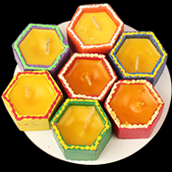 Decorative Earthern lamps - Set of 7 - Design II
