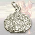 Sanjeevani Hanuman Locket in Pure Silver