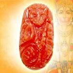 Coral Hanuman - 6.85 carats