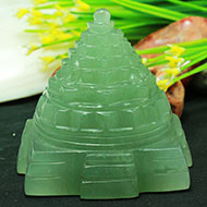 Light Green Jade Shree Yantra - 227 gms