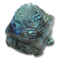 Kurma Shree Yantra  in  Labradorite - 407 gms