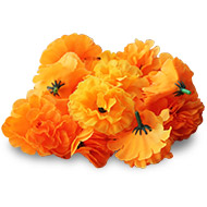 Marigold flowers - satin