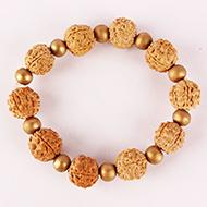 5 Mukhi Nepal Rudraksha Beads Bracelet - IV