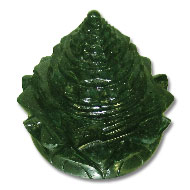 Green Jade Shree Yantra on Lotus - 568 gms