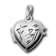 Heart Locket in pure silver - Shree Design