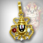 Tirupati Balaji Locket in Pure Gold - Design IV