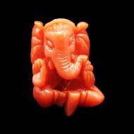 Coral Ganesha - 11.05 carats