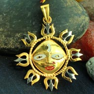 Gold Plated Surya Locket
