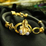 Ganesha Bracelet in pure Gold