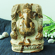 Ganeshji in Picture Jasper - 1361 gms