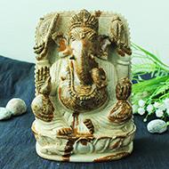 Ganeshji in Picture Jasper - 1361 gms