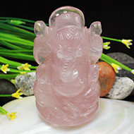 Rose Quartz Ganesha - 189 gms