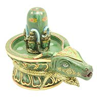 Blessing of Pashupatinath in Green Jade 1.365..
