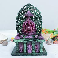 Majestic Maha Ganesh in Ruby