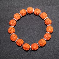 Punch Mukhi Rudraksha Bracelet (Chikna Bead -  V