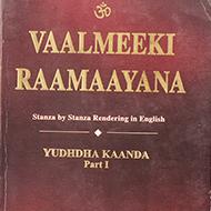 Vaalmeeki Raamaayana - Vol VI