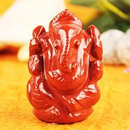 Ganeshji in Red Jasper - 55 gms
