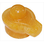 Shivlinga in Yellow Jade - 366 gms