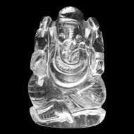 Ganesh Idol in pure quartz -   60 gms