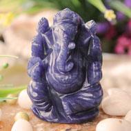 Blue Aventurine Quartz Ganesha - 103 gms