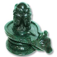 Pashupatinath Shivling in Green Jade - Large