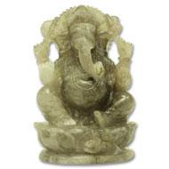 Smokey Quartz Ganesha - 1052 gms