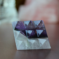Multi Pyramid in Amethyst